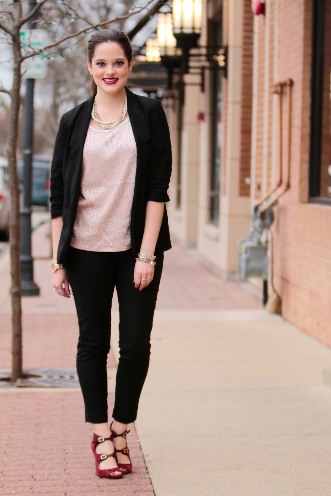 black boyfriend blazer pants