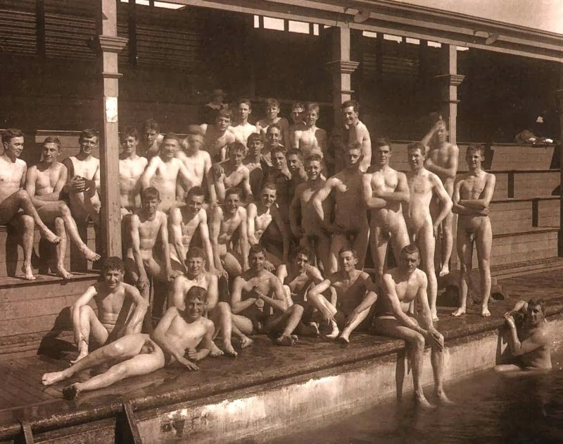 Vintage Naked Guys Swim Team