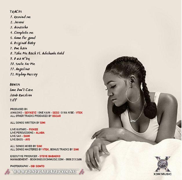 Simi – Original Baby [Mp3 Music Download+Lyrics]