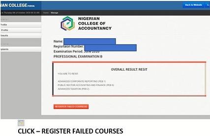 ANAN Resit Exam Registration Guidelines 2020