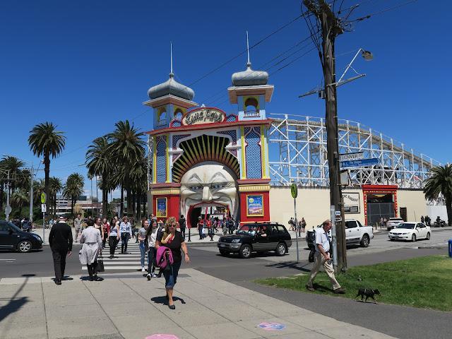 Luna Park, St Kilda's beach, Melbourne