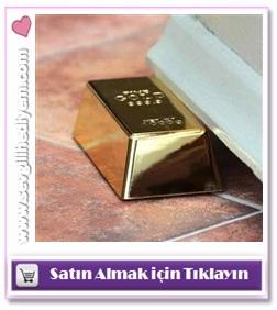 ev hediyesi, altın külçesi, altın külçesi şeklinde kapı tutacağı, ucuz ev hediyeleri
