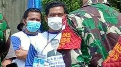 Massa Pakai Kaos 'Moeldoko Ketua Umum Demokrat' di Lokasi KLB PD di Sibolangit