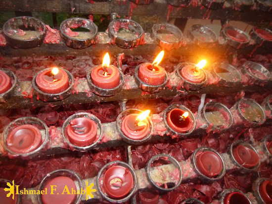 Candles outside of the Minor Basilica of the Santo Niño in Cebu City