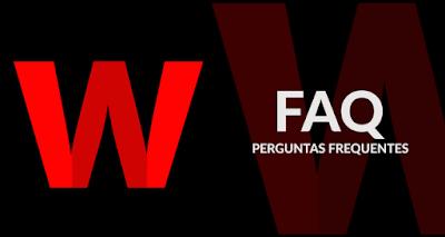 Logo da webtvplay com faq perguntas frequentes