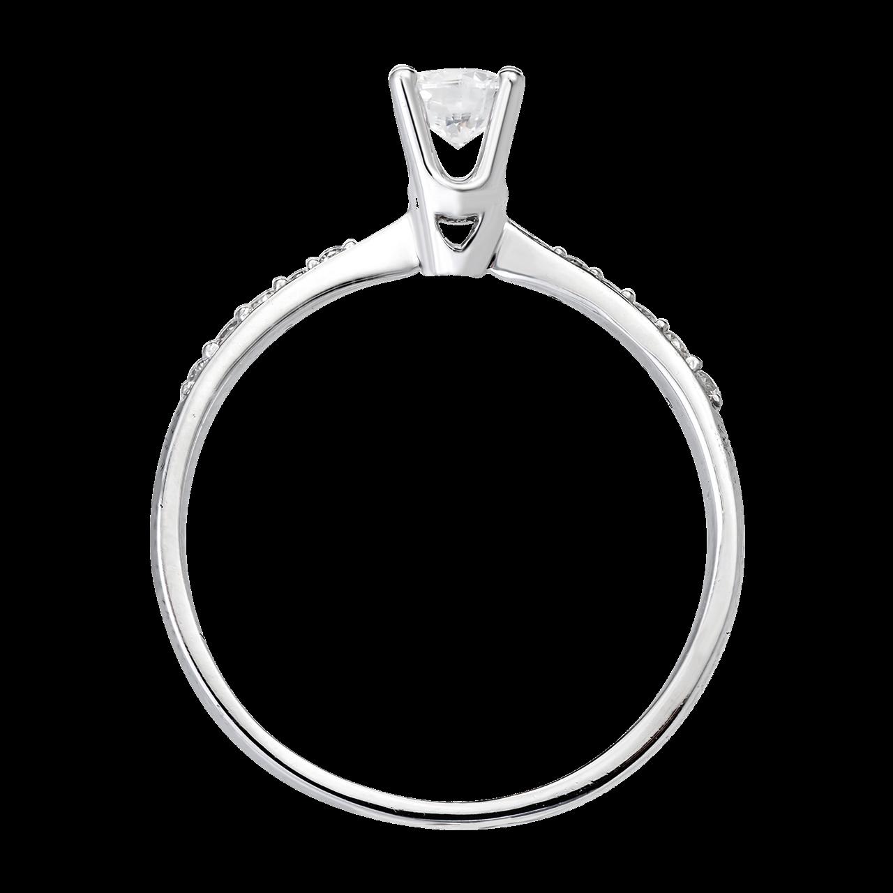 Nhẫn Kim cương Vàng trắng 14K PNJ DDDDW001071