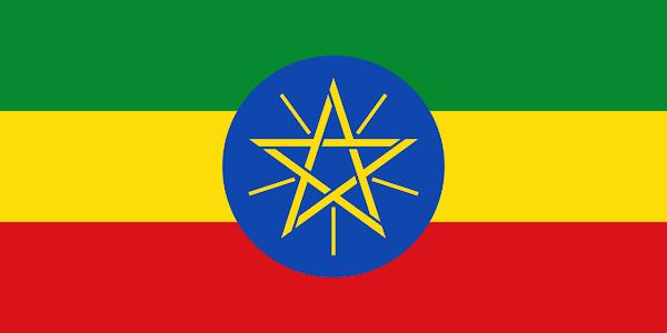 Logo Gambar Bendera Negara Etiopia PNG JPG ukuran 600 px