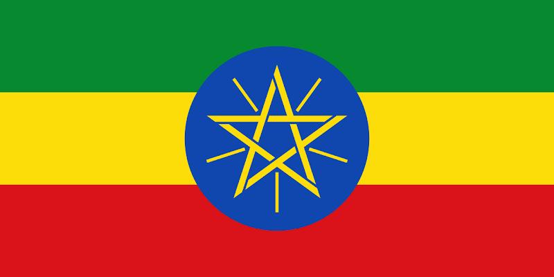 Logo Gambar Bendera Negara Etiopia PNG JPG ukuran 800 px