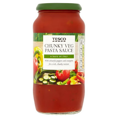Jar of Tesco Chunky Veg Pasta Sauce