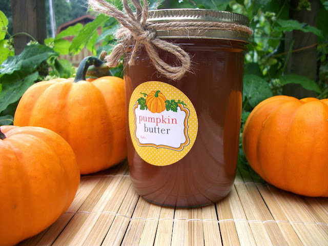 pumpkin butter canning label