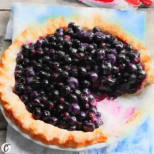 Cape Cod Blueberry  Pie 🥧