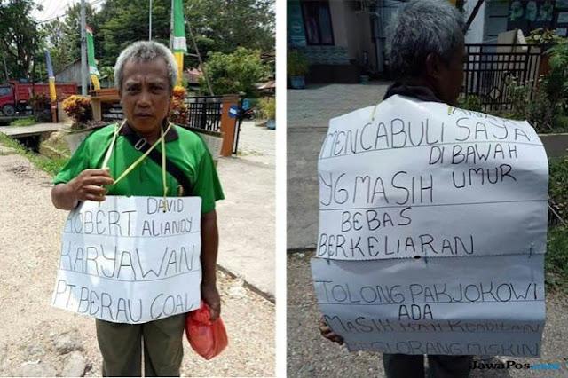 Anaknya Diperkosa Karyawan Tambang, Sang Ayah Tuntut Keadilan Jokowi