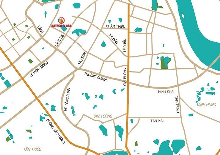 Vị trí Chung cư Hateco Plaza - Số 4A Huỳnh Thúc Kháng