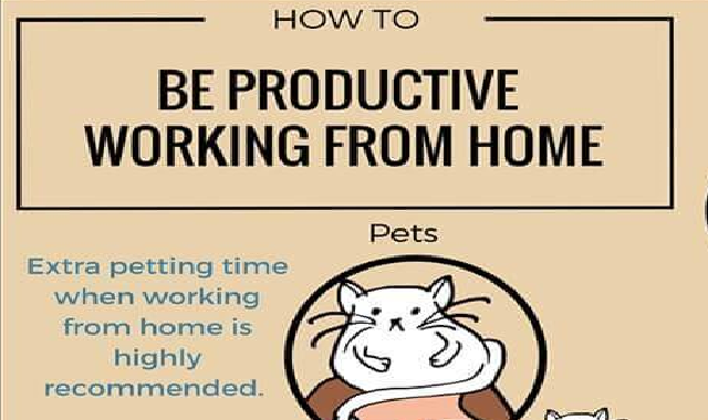 How To Be Productive Working From Home #infographic