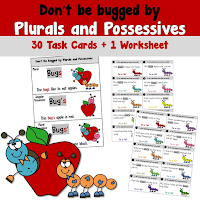 Plural and Possessive Task Cards