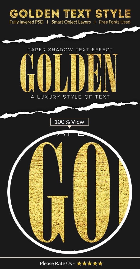 Golden Text Effect 28675080