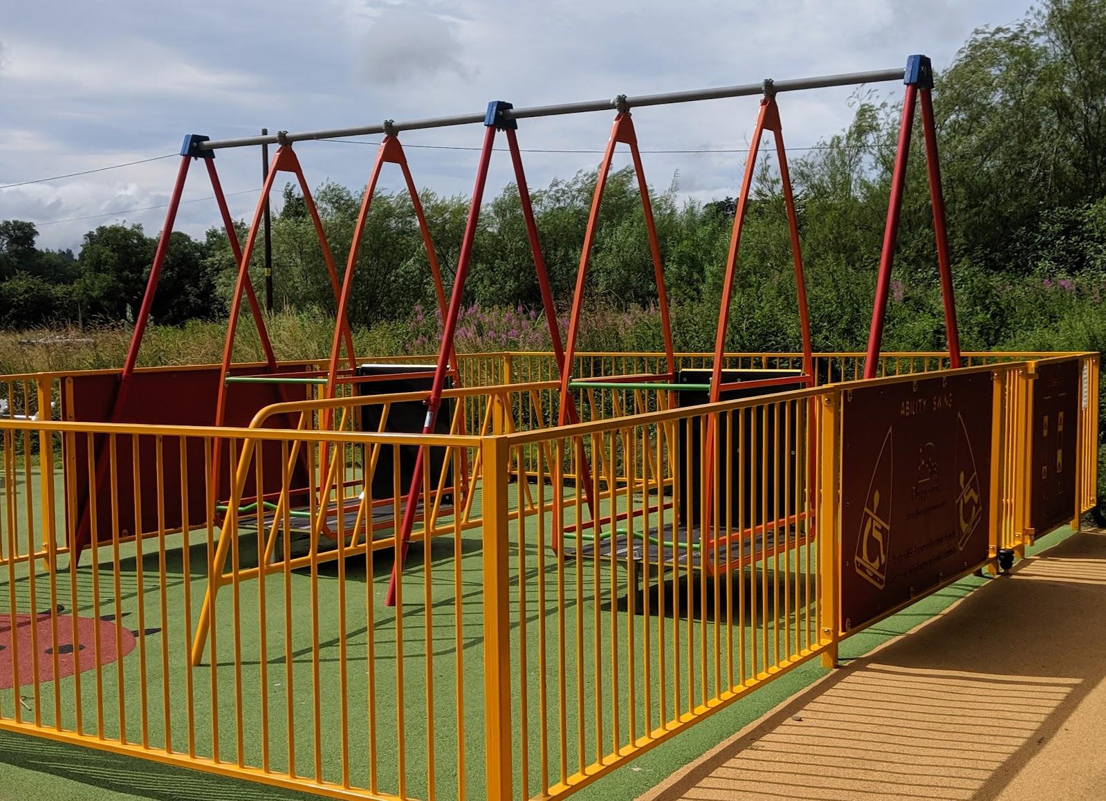 Harestanes Park, Jedburgh - wheelchair swings