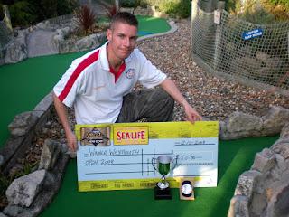 Richard Gottfried, the 2008 Weymouth Open minigolf champion