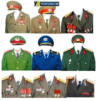 Mẩu áo quân phục ghép ảnh photoshop 02