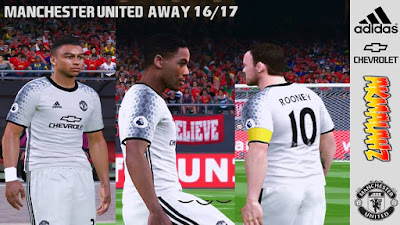PES 2016 Manchester United Away Kits 16/17 by Akmal