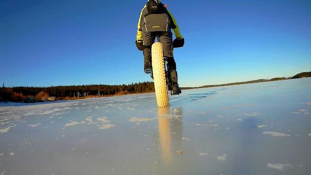Riding frozen Lake
