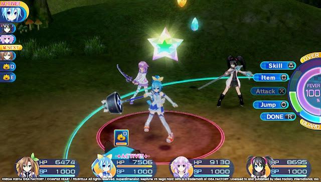 Superdimension Neptune VS Sega Hard Girls PC Free Download Screenshot 1