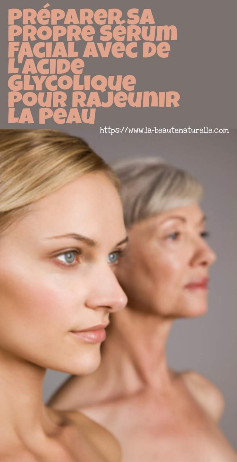 Préparer Sa Propre Sérum Facial Avec De L'acide Glycolique Pour Rajeunir La Peau