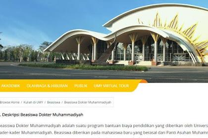 Beasiswa Dokter Universitas Muhammadiyah Yogyakarta