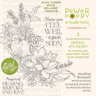 Power Poppy, Marcella Hawley, Healing Bouquet, Digital Image, August 2020