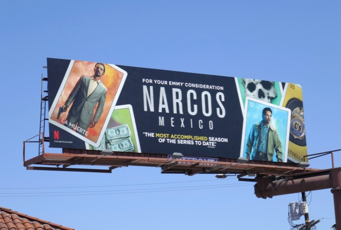 Narcos Mexico Emmy consideration billboard