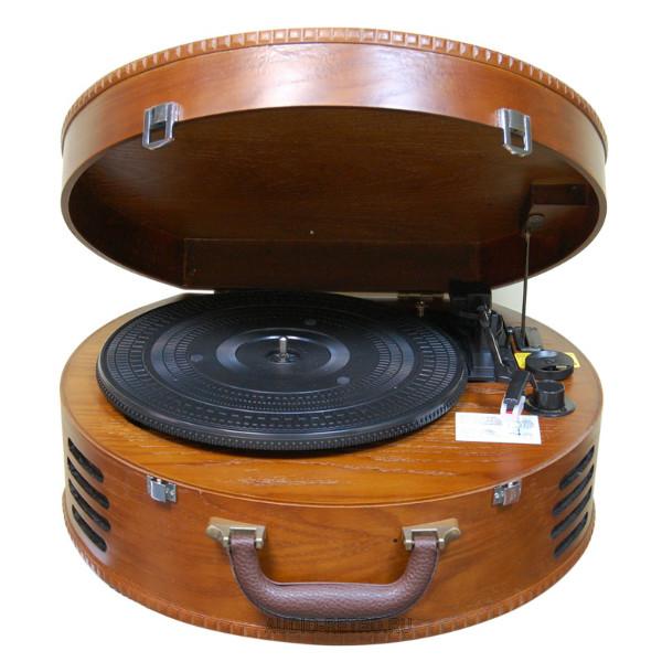 Weltbild NOSTALGIA качественно выполненный современный патефон в деревянном чемодане с USB и записью с пластинок на ПК