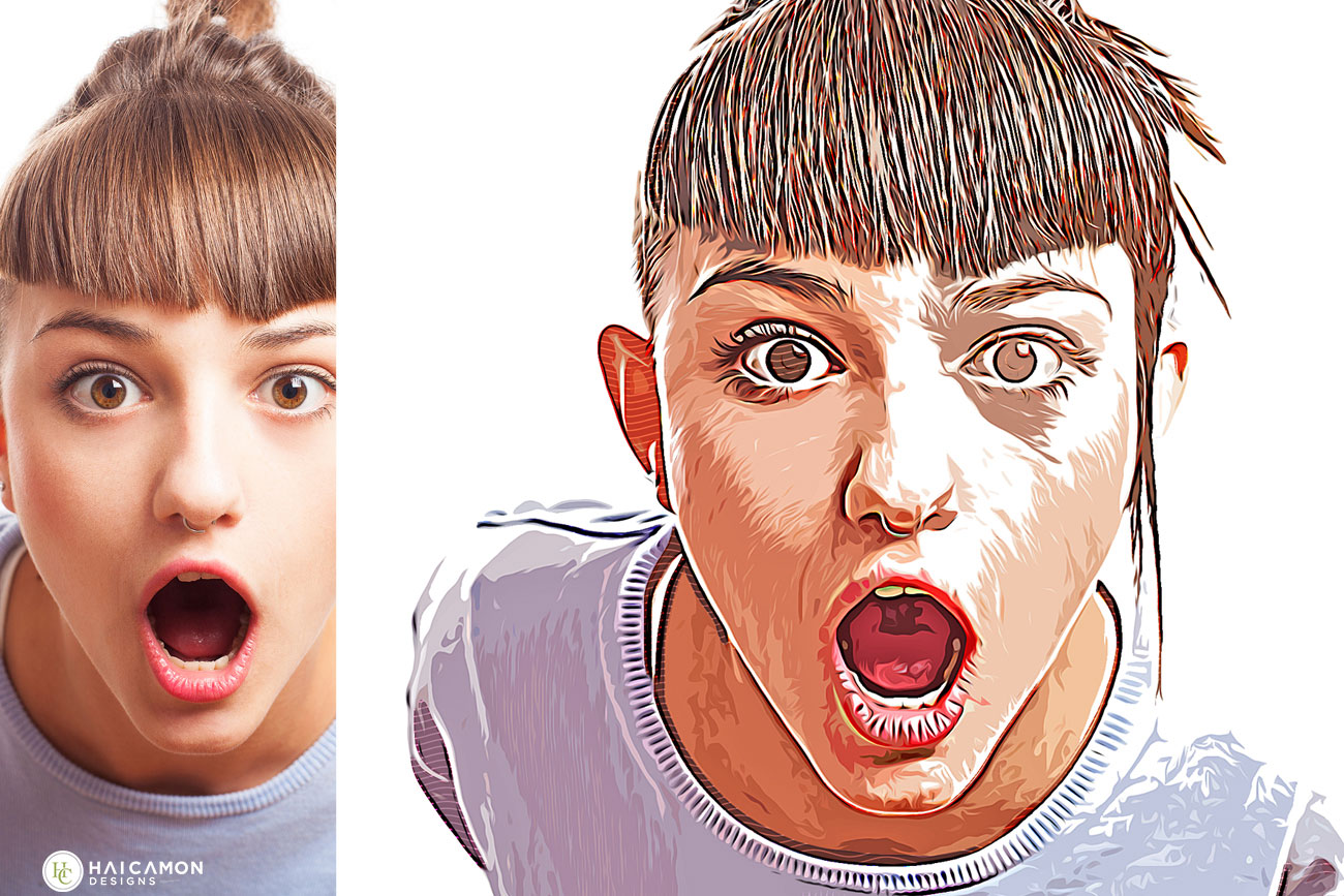 Vector Art Painting Effect Photoshop Action 27010115.