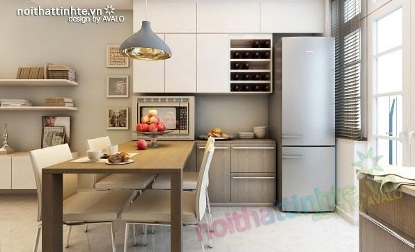 Trang trí nội thất phòng bếp cho căn hộ 70m2