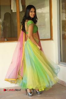 Actress Nikitha Bisht Stills in Lehenga Choli at Pochampally Ikat Art Mela Launch  0378.JPG