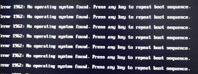 Cara Mengatasi Error 1962 No Operating System Found