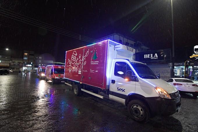 arreata natalina do Sistema Fecomércio vai iluminar o Natal de quem mais precisa e levar doações para 12 cidades do DF