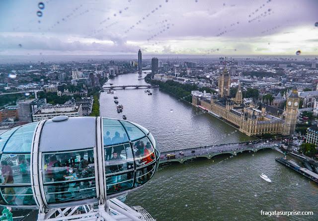 Londres - o Big Ben visto do London Eye