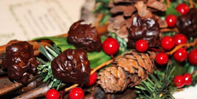 ROCAS DE CHOCOLATE CON MUESLI Y BAILEYS