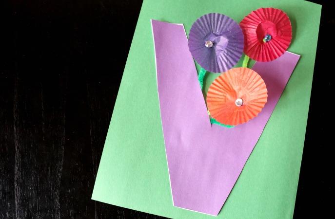 v is for vase letter craft