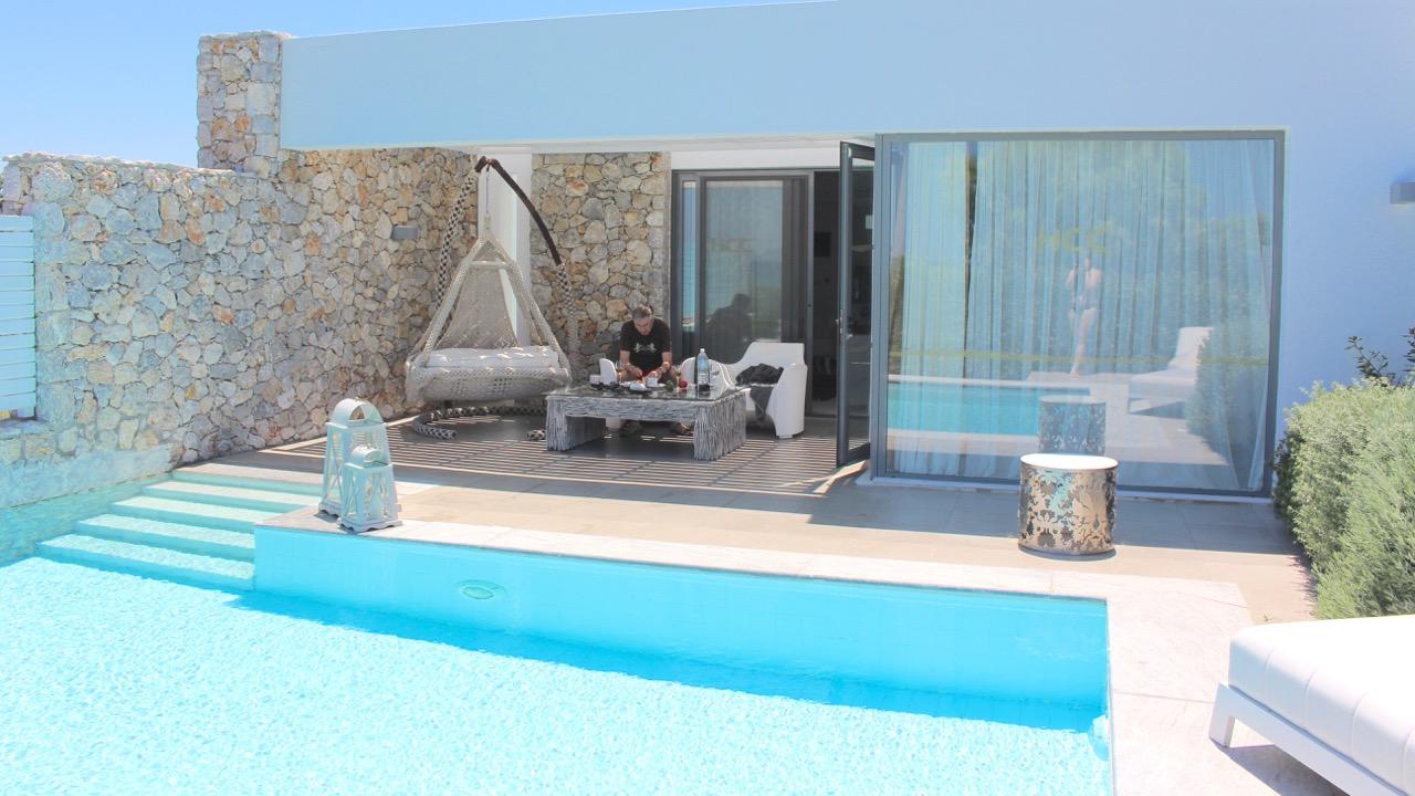 Unsere traumhafte Suite auf der griechischen Insel Kos mit Privatpool
