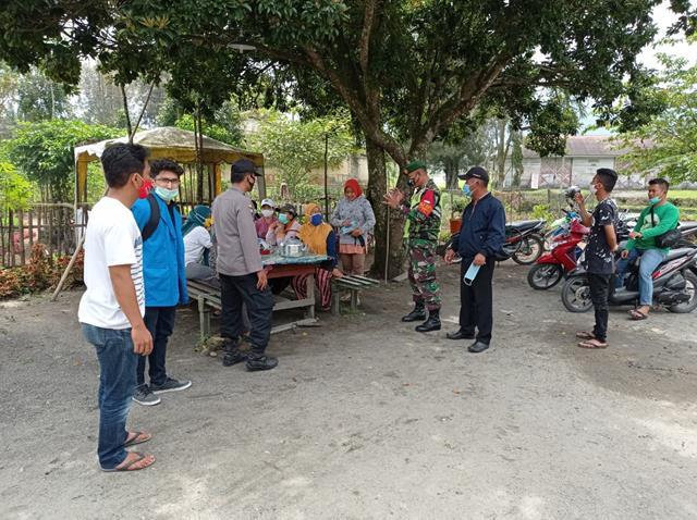 Tepatnya Diwarung Wilayah Desa Binaan, Personel Jajaran Kodim 0207/Simalungun Laksanakan Gakplin
