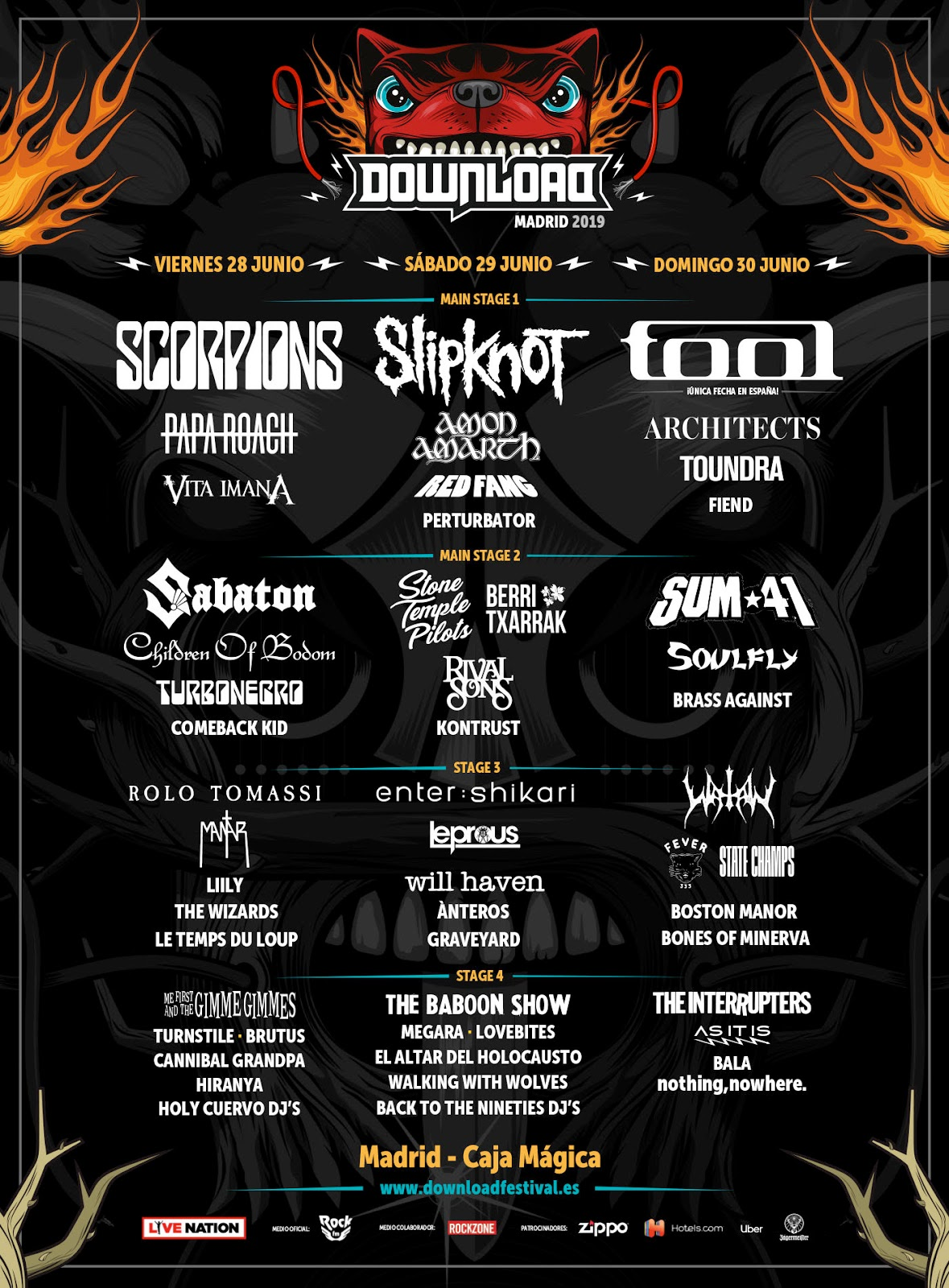 Download Line up