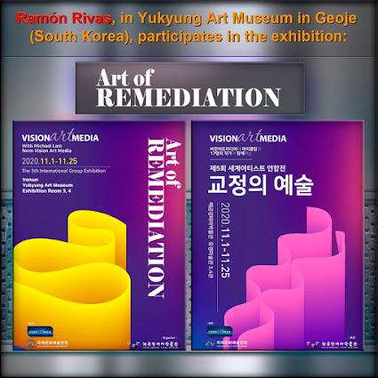 """Ramón Rivas en la 5ª Exposición Internacional Colectiva """"Arte de la Remediación"""" en el Museo de Arte Yukyung en Geoje (Corea del Sur)"""