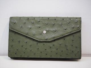 オーストリッチの革製の長財布をお買い取り致しました