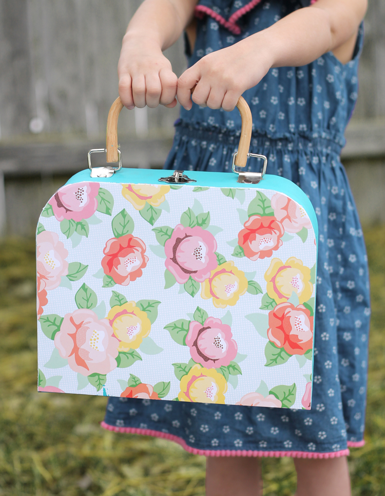 suitcase for crafts