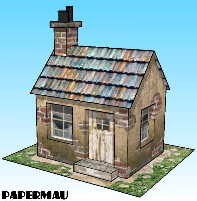 Papermau 09032017 09102017 a little house paper model by papermau download now fandeluxe Images