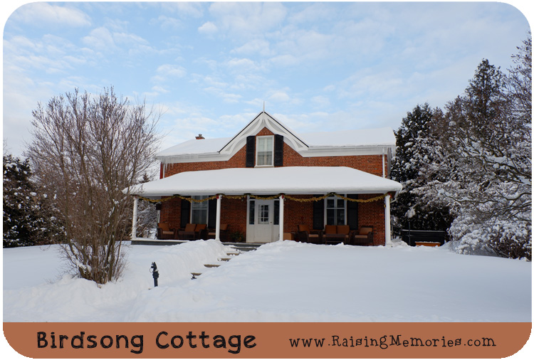 Birdsong Cottage in winter at Sainte Annes Spa Ontario Canada Travel Blogger