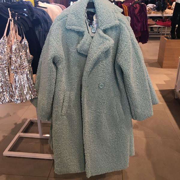 blue max mara teddy bear coat dupe