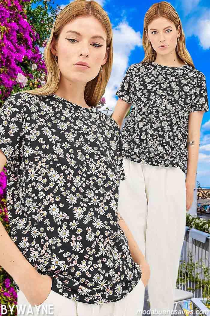remeras y pantalones primavera verano 2021 mujer ropa