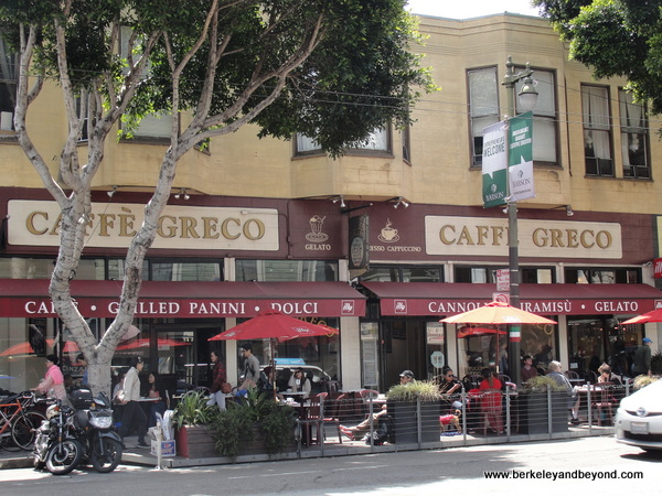 parklet in front of Caffe Greco in San Francisco